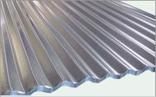 Telha de aço galvanizado ondulada